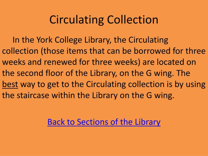 Circulating Collection