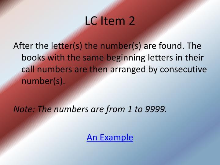 LC Item 2