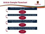 article sample flowchart