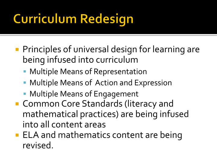 Curriculum redesign1