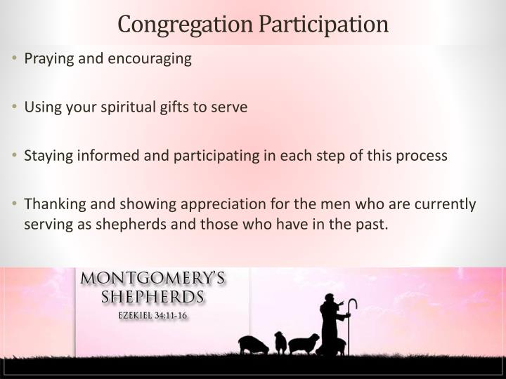 Congregation Participation
