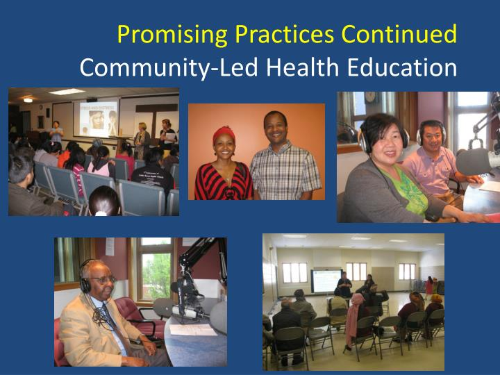 Promising Practices Continued