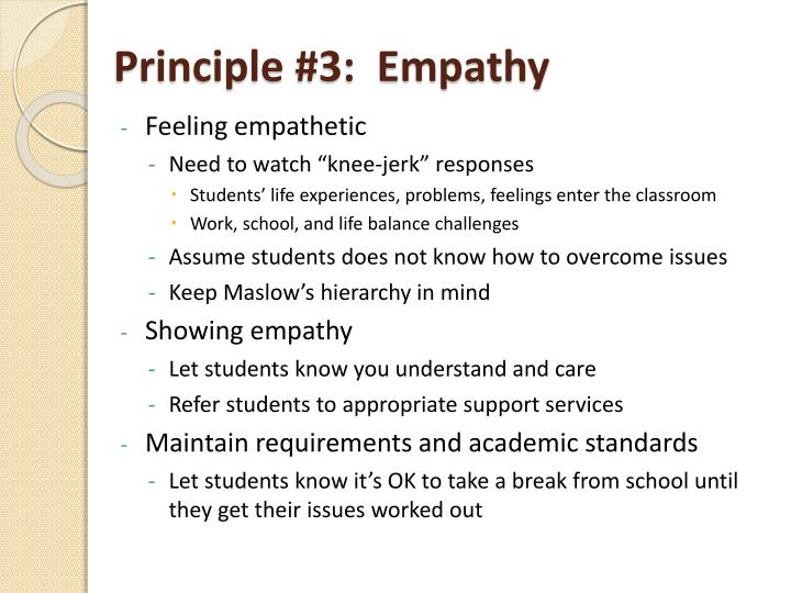 Principle #3:  Empathy