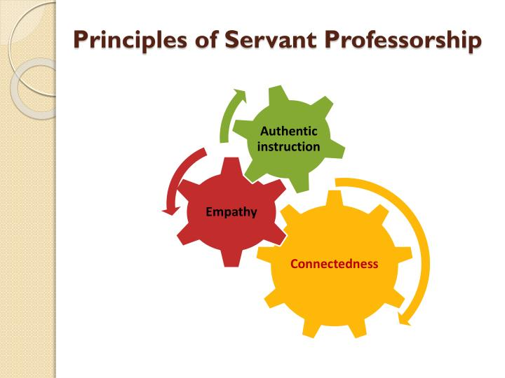 Principles of Servant Professorship