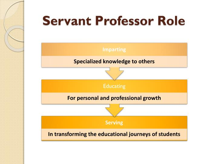 Servant Professor Role