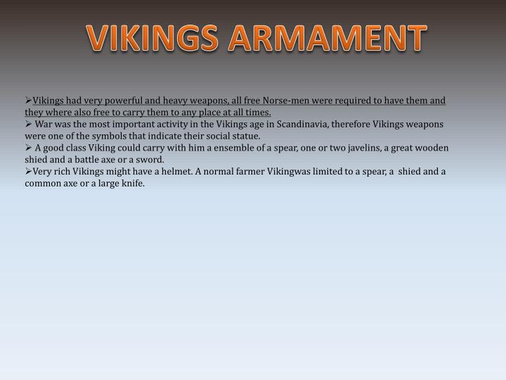 VIKINGS ARMAMENT