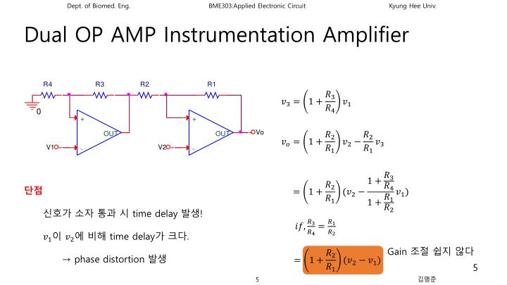 Dual OP AMP Instrumentation Amplifier