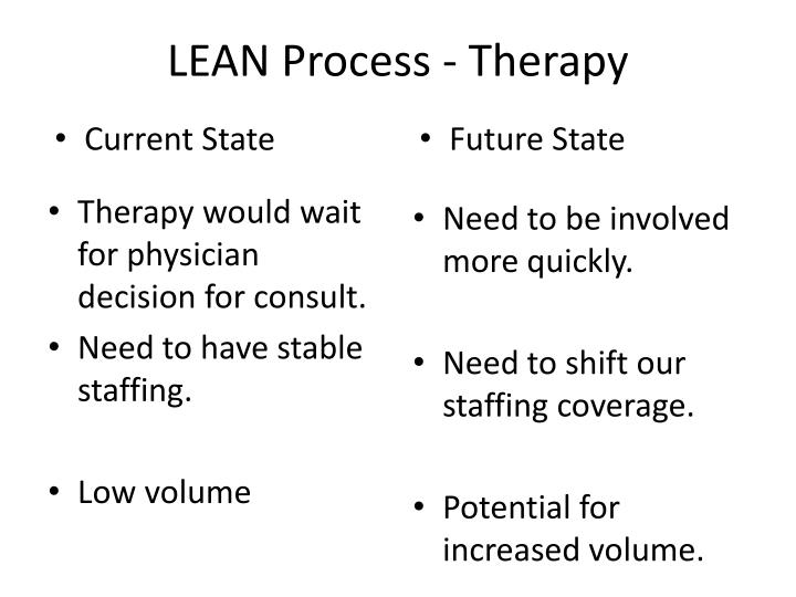 LEAN Process - Therapy