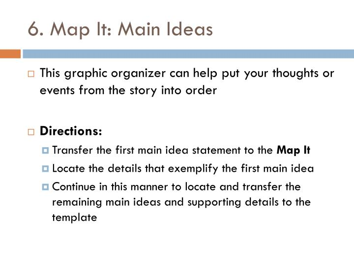 6. Map It: Main Ideas