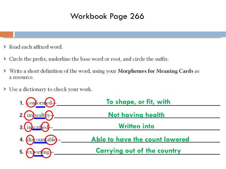 Workbook Page 266