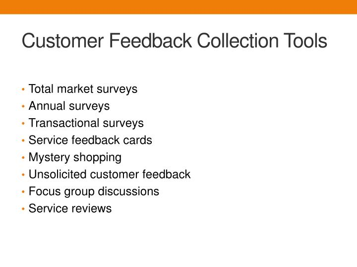 Customer Feedback Collection Tools