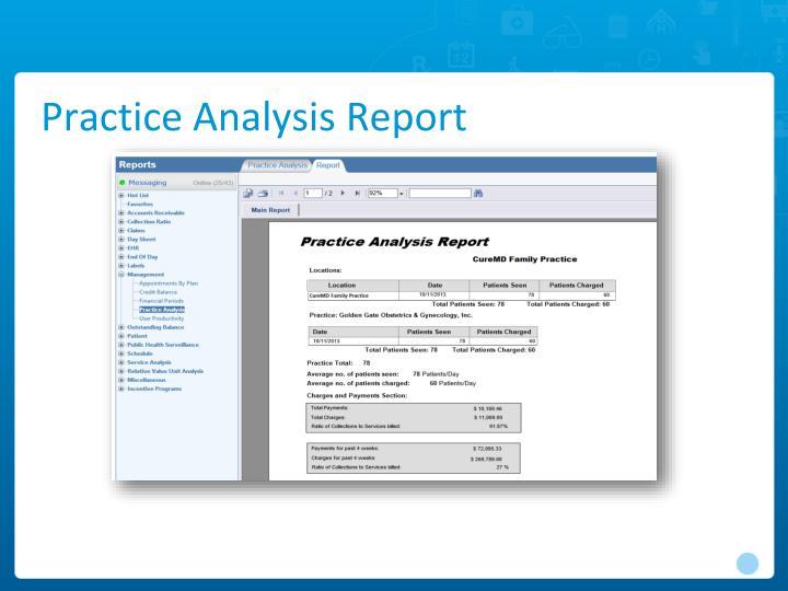 Practice Analysis Report