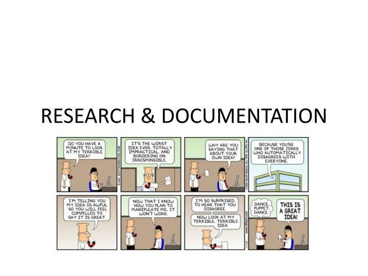 documenting research papers