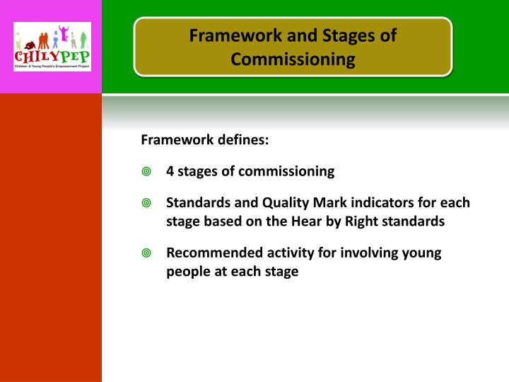 Framework and Stages