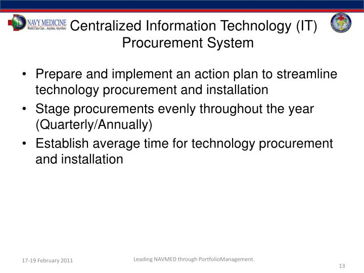 Centralized Information Technology (IT) Procurement System