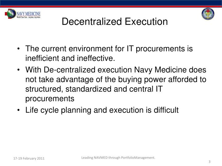 Decentralized Execution