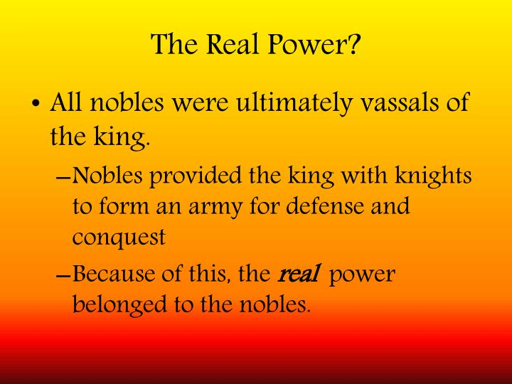 The Real Power?