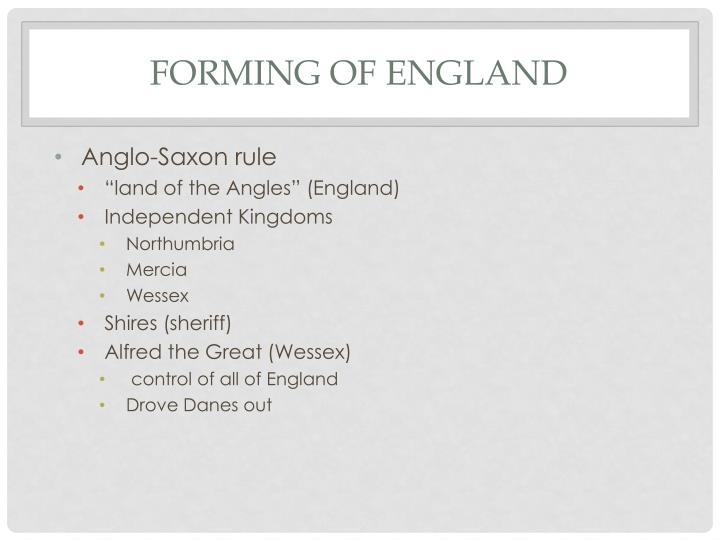 Forming of england