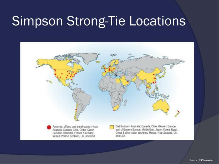 Simpson Strong-Tie Locations