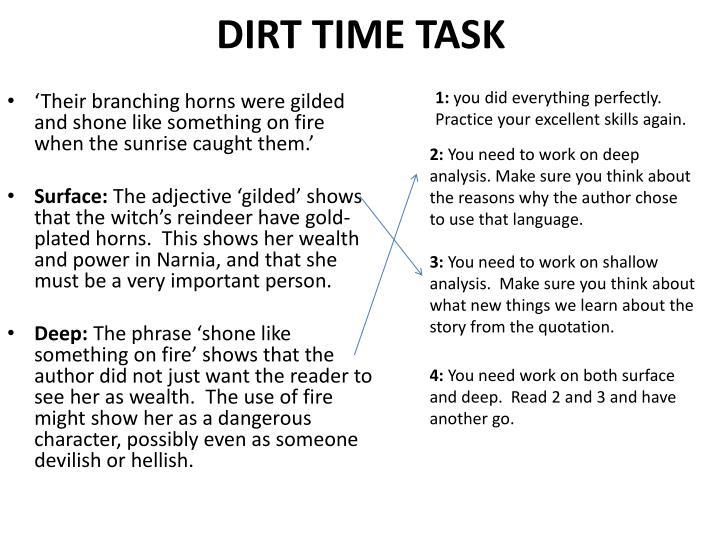 DIRT TIME TASK