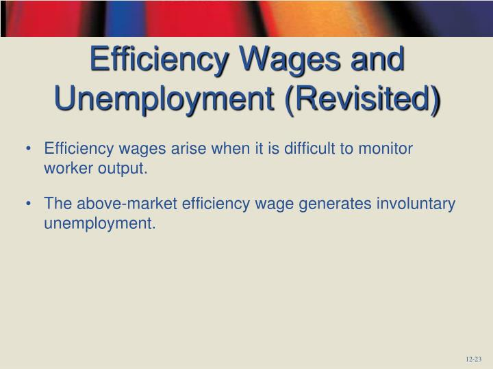 Efficiency Wages and Unemployment (Revisited)