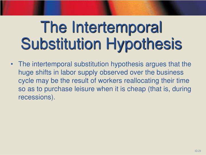 The Intertemporal Substitution Hypothesis