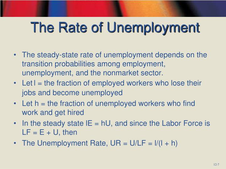 The Rate of Unemployment