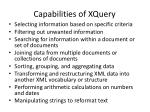capabilities of xquery