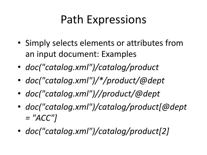 Path Expressions