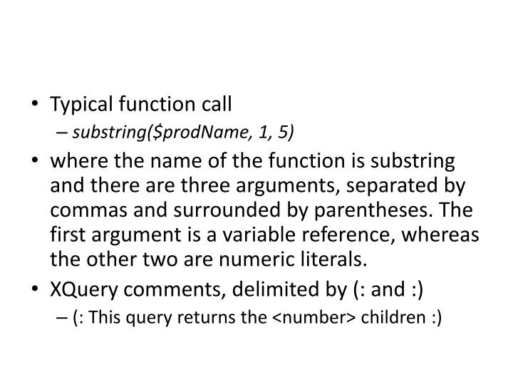 Typical function call