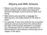 xquery and xml schema