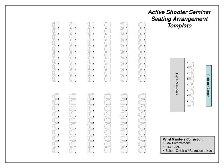 Active Shooter Seminar Seating