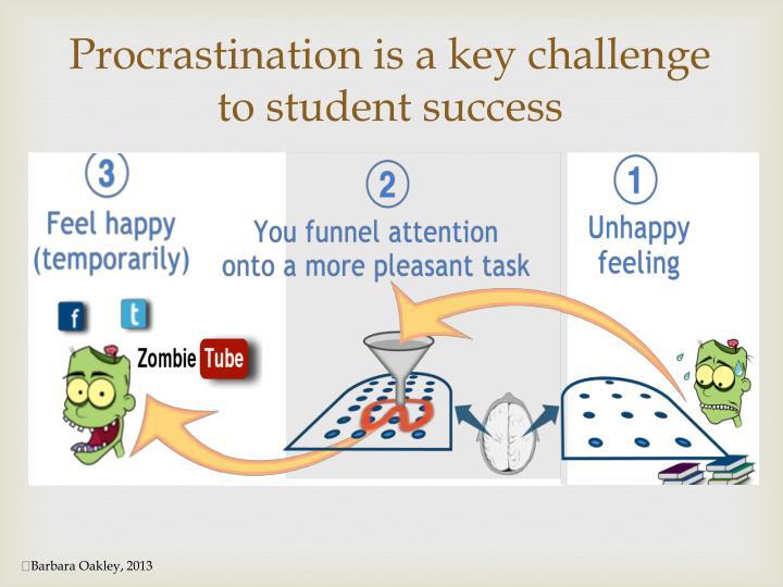 Procrastination is a key challenge to student success