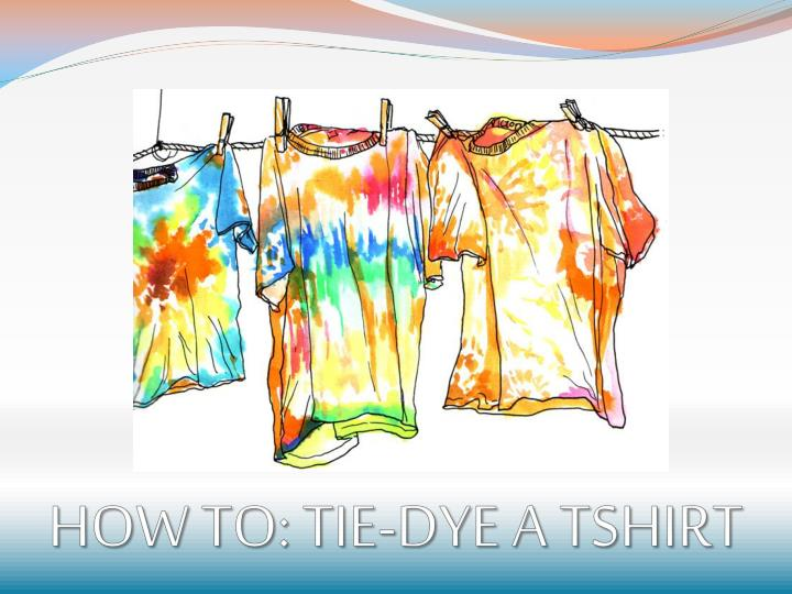How to tie dye a tshirt