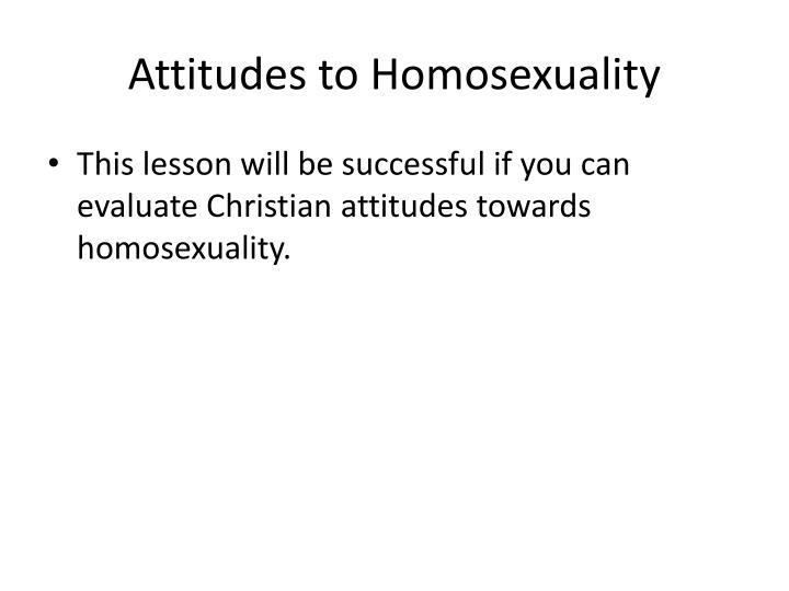 Attitudes to Homosexuality
