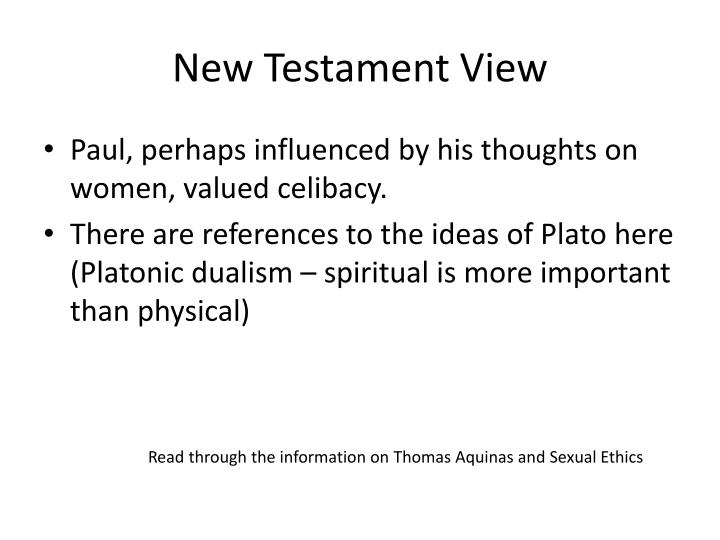 New testament view