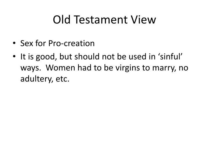 Old Testament View
