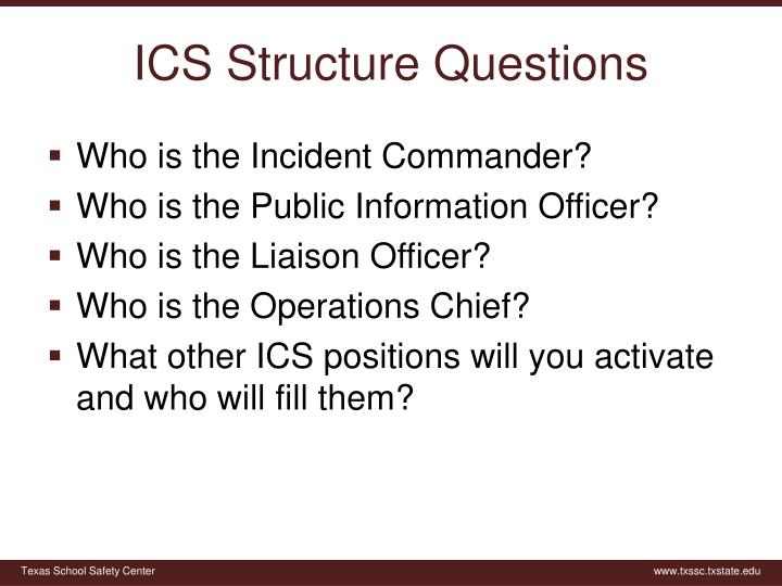 ICS Structure Questions