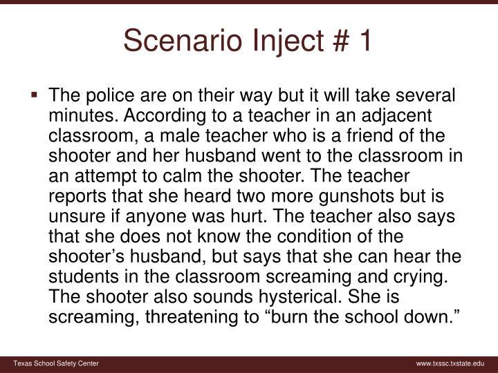 Scenario Inject # 1
