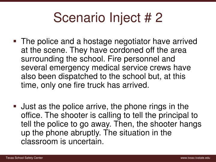 Scenario Inject # 2