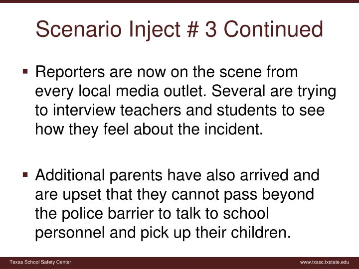 Scenario Inject #
