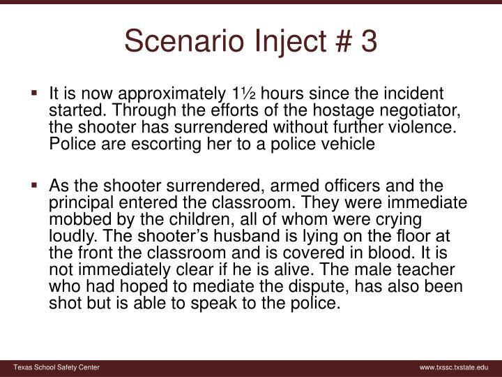 Scenario Inject # 3