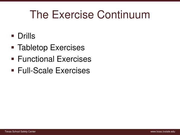 The Exercise Continuum