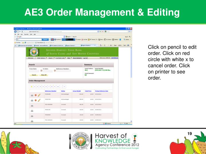 AE3 Order Management & Editing