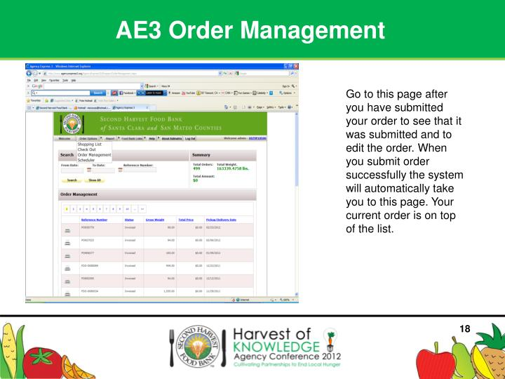 AE3 Order Management