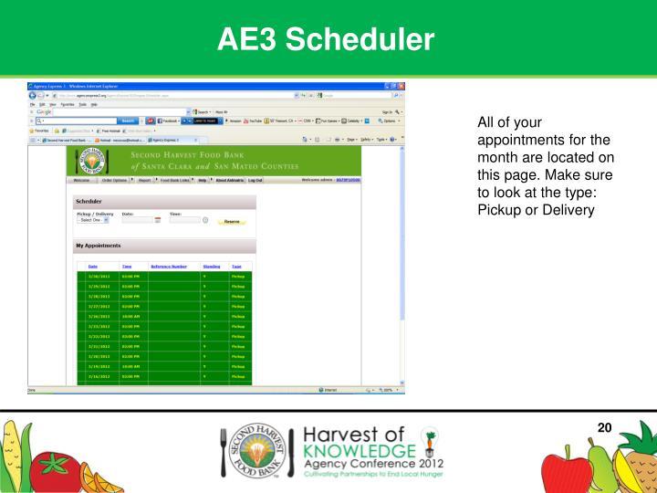 AE3 Scheduler