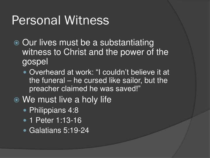 Personal Witness