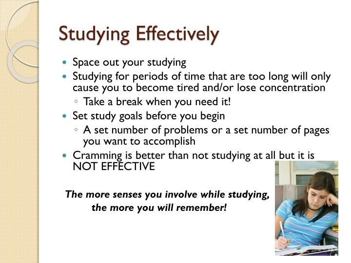 Studying Effectively