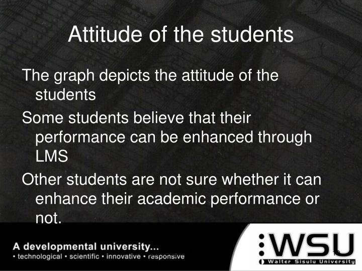 Attitude of the students