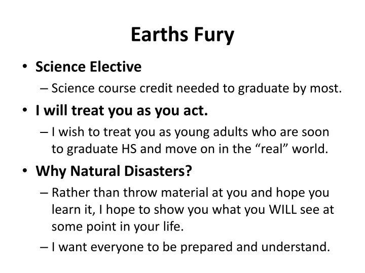 Earths Fury